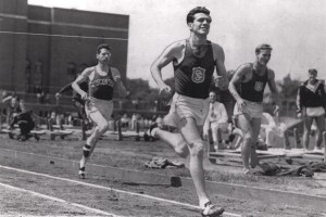 At USC, Louis Zamperini set a national collegiate mile mark of 4:08.3 that stood for 15 years. (Photo/USC University Archives)