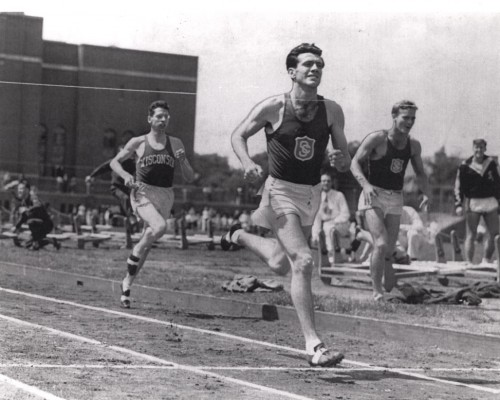 At USC, Louis Zamperini set a national collegiate mile mark of 4:08.3 that stood for 15 years. (Photo/ USC University Archives)
