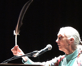 Jane Goodall Spreads Message of Hope