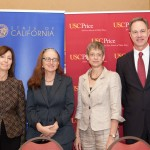 with Elizabeth Garrett and USC Price dean Jack H. Knott