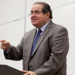 Scalia speaks during a USC law class.