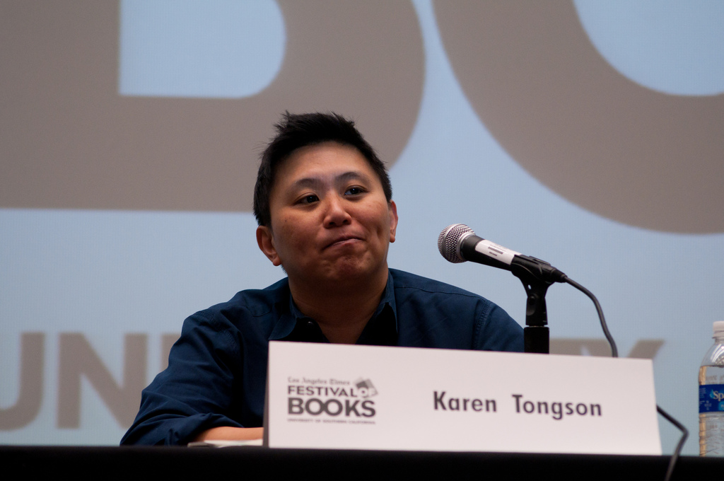 "Karen Tongson sat on the ""Queer L.A."" panel at the 2012 Festival of Books"