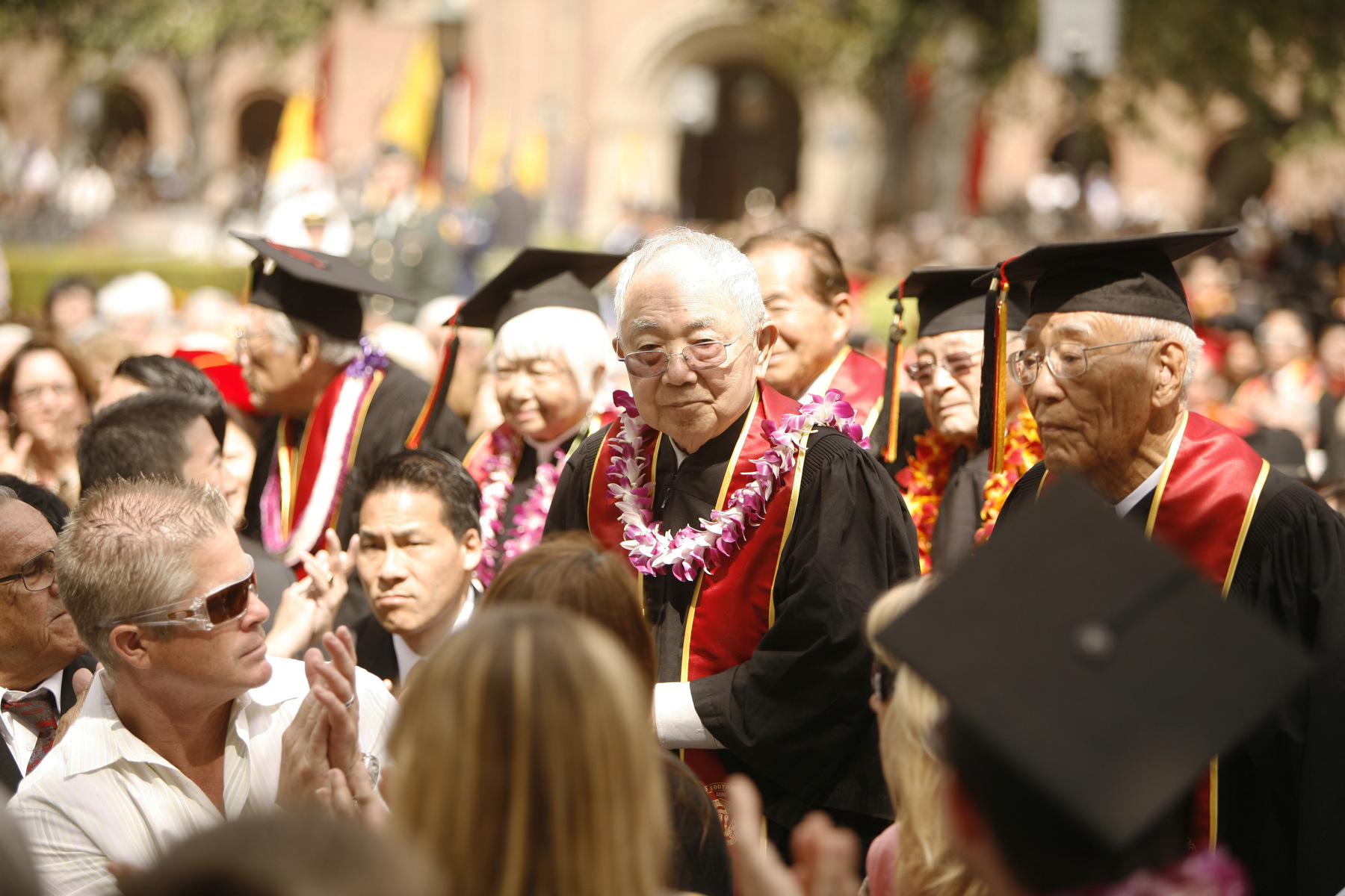 Nisei students received honorary degrees at the 2012 Commencement