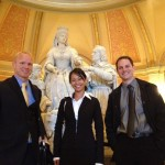 From left, David Curry, Diane Parilla and Ryan Jones in Sacramento's Capitol building (Photo/Rick Newmyer)
