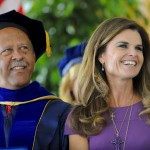 Dean Ernest J. Wilson III and Maria Shriver at Commencement 2012