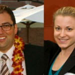 Master of Public Policy graduates Kerem Yilmaz and Kathryn Urquhart
