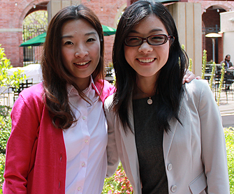 USC Price alumnae Wenting Wu and Ginger Li