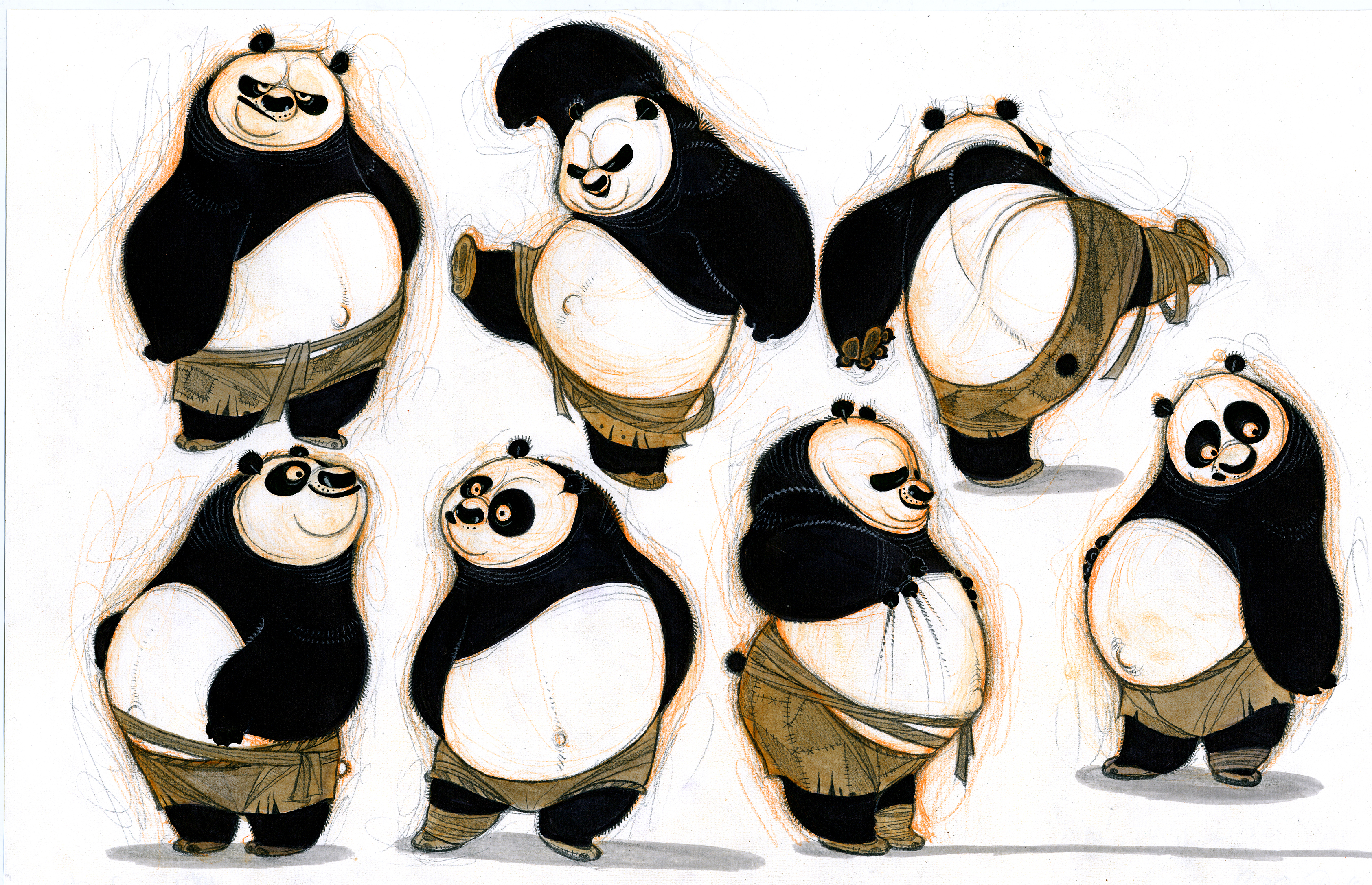 Sketches of Kung Fu Panda 2