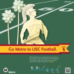The Los Angeles Metropolitan Transportation Authority encourages Trojan fans to attend Saturday's football game via public transit lines.