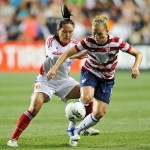 Amy Rodriguez in China v. USA match