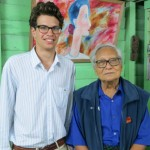 Reid Lidow, left, with U Win Tin, a founder of Burma's National League for Democracy party and a respected journalist
