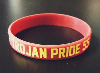 Trojan Pride 55 wristband