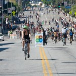 The fifth CicLAvia event features a new route that extends to Figueroa Street and Exposition Park. (Photo/Gary Leonard)