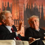From left, The Right Honorable Jack Straw, Lord John Eatwell, Manuel Castells and Pip McCrostie (Photo/Simon Lane)