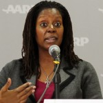 Karen Lincoln was one of three panelists who spoke at the AARP-organized forum. (Photo/Vincent Lim)