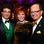 USC President C. L. Max Nikias hosted a gala dinner in November to celebrate Glorya Kaufman and her transformative gift to create the USC Glorya Kaufman School of Dance. Pictured here from left, Dean Robert A. Cutietta, Kaufman and Nikias (Photo/Steve Cohn)