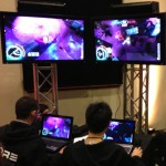 Core Overload gamers at play on Demo Day (Photo/Courtesy of USC School of Cinematic Arts)