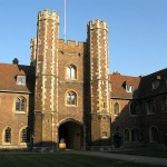 The Old Court of Queens' College at the University of Cambridge