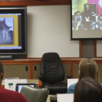 One example of USC's efforts to transform learning through technology is iPodia Alliance, a program that uses high-bandwidth connectivity and tele-presence technology to connect students with classmates across the globe.