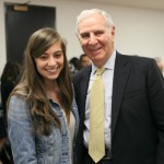 Former California Gov. George Deukmejian with USC Dornsife undergraduate Janet Shamilian (Photo/Shahe Melian, Arka Photography)