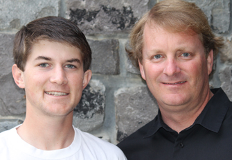 Philanthropy is important to Wyatt Driscoll, left, and his father, Rudy. (Photo/Courtesy of USC School of Social Work)