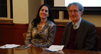 Mary Helen Immordino-Yang and Howard Gardner (Photo/Dan-Dorian Druhora)