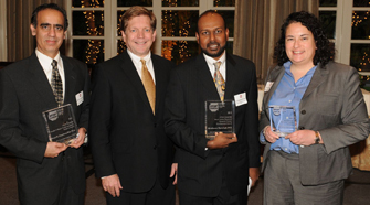 From left, Preet Chaudhary, Stephen Gruber, Giridharan Ramsingh and Julie Lang (Photo/Paul Lester)