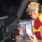 Stephanie Solstis, USC Marshall student and a pilot in the U.S. Air Force, spearheaded the effort to raise money for water filters and transported them to Afghanistan. (Photo/Courtesy of USC Marshall School of Business)
