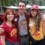 From left, Sharon, John and Ashley Tesoriero at a USC Associates picnic in October (Photo/Brooke Williams)