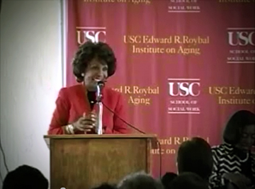 """Alzheimer's disease is taking a devastating toll on millions of American seniors,"" Rep. Maxine Waters told a group assembled for the first Advocates for African American Elders public event. (Photo/Courtesy of USC School of Social Work)"