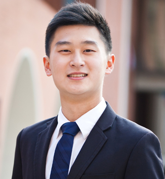 Matthew Wong is teaching U.S. and world history for his fieldwork at the USC Rossier School of Education. (Photo/Albert Lu)