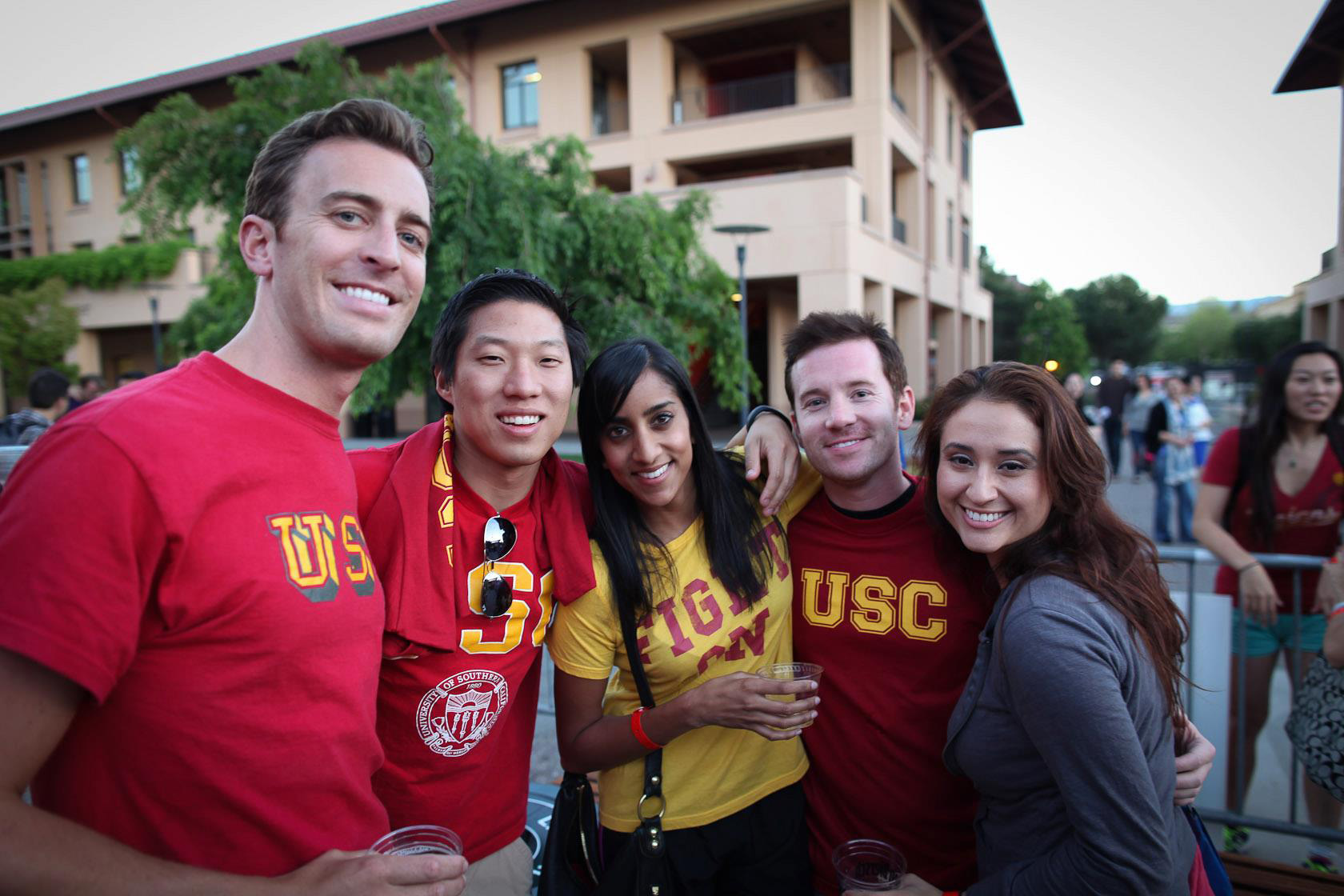 USC Marshall students participated in the Challenge for Charity at Stanford University.