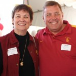 USC Rossier Dean Karen Symms Gallagher and alum Brent Noyes (Photo/Courtesy of USC Rossier)