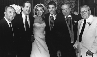 At Patrick Martin'€™s 2002 wedding, Martin family members who studied at the USC School of Architecture, from left: Albert C. Martin Jr., David Martin, Danielle Martin, Patrick Martin, Chris Martin and J. Edward Martin
