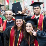 The commencement ceremony drew a crowd of more than 60,000 to the University Park Campus. (USC Photo/Dietmar Quistorf)
