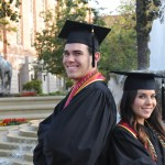 Andrew and Rebecca Alonzo have followed the same academic path, both earning their bachelor's degrees in psychology. (USC Photo/Pamela J. Johnson)