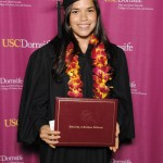 Actress America Ferrera earned a bachelor's degree in international relations at USC Dornsife.