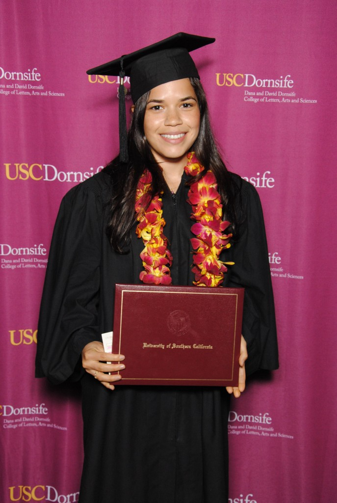 America Ferrera earned a bachelor's degree at USC Dornsife on May 17.