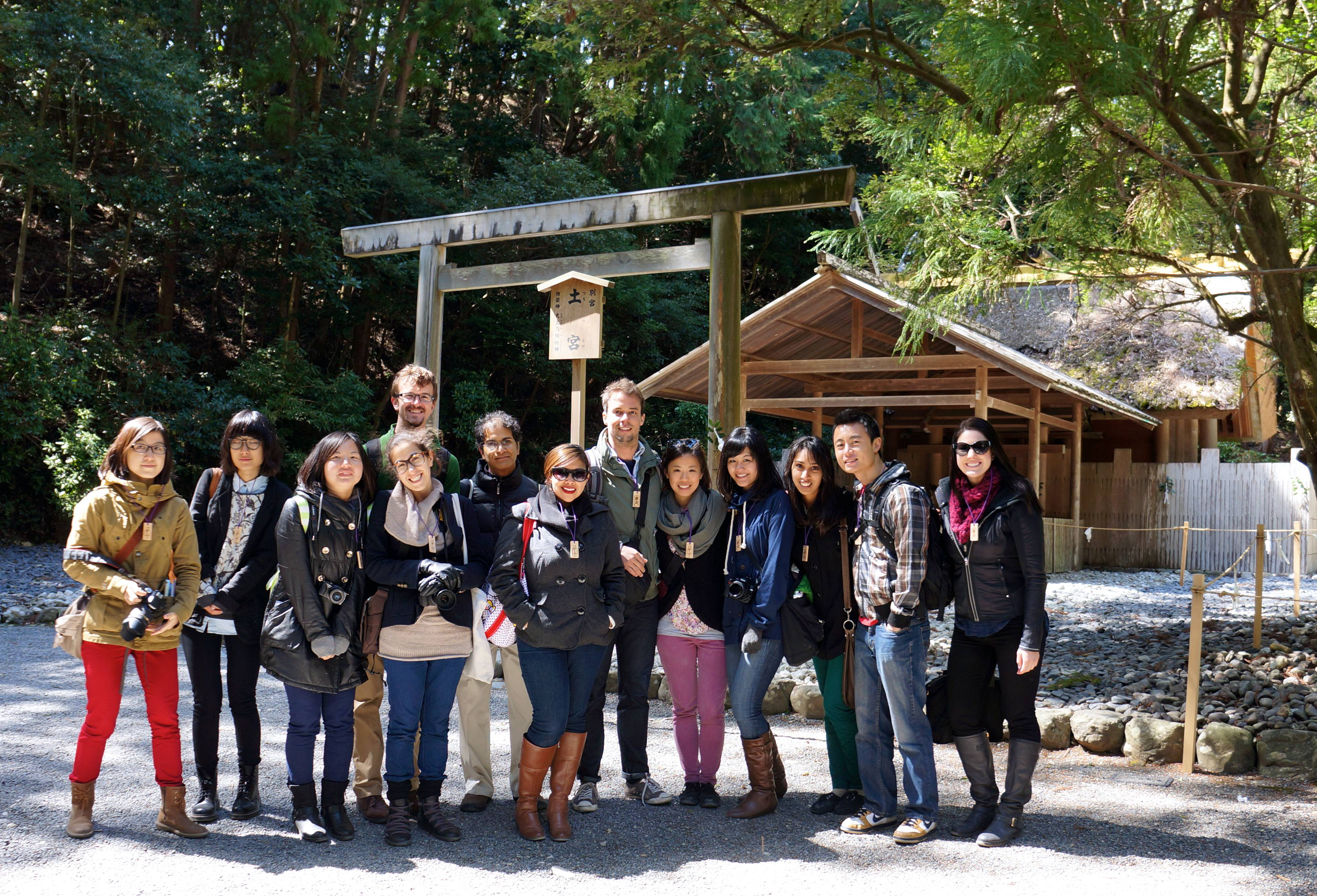 USC Price students visit the Ise Grand Shrine as part of an international planning studio. (Photo/Michael McDermott)