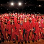The Keck School of Medicine class of 2013 (USC Photo/Steve Cohn)