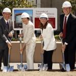 USC President C. L. Max Nikias, Harlyne J. Norris, Lisa Hansen and Thomas E. Jackiewicz (USC Photo/Steve Cohn)