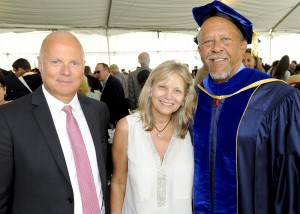 Hans and Jayne Hufschmid with Dean Ernest J. Wilson III