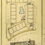 An architectural drawing from the USC Libraries' Edward Fickett collection (Photo/USC Libraries' Special Collections)