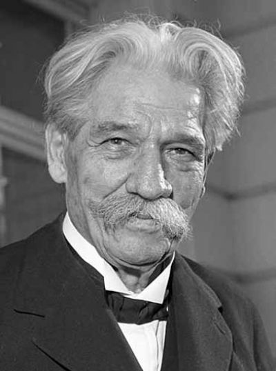 Physician and humanitarian Albert Schweitzer (Photo/Rolf Unterberg)