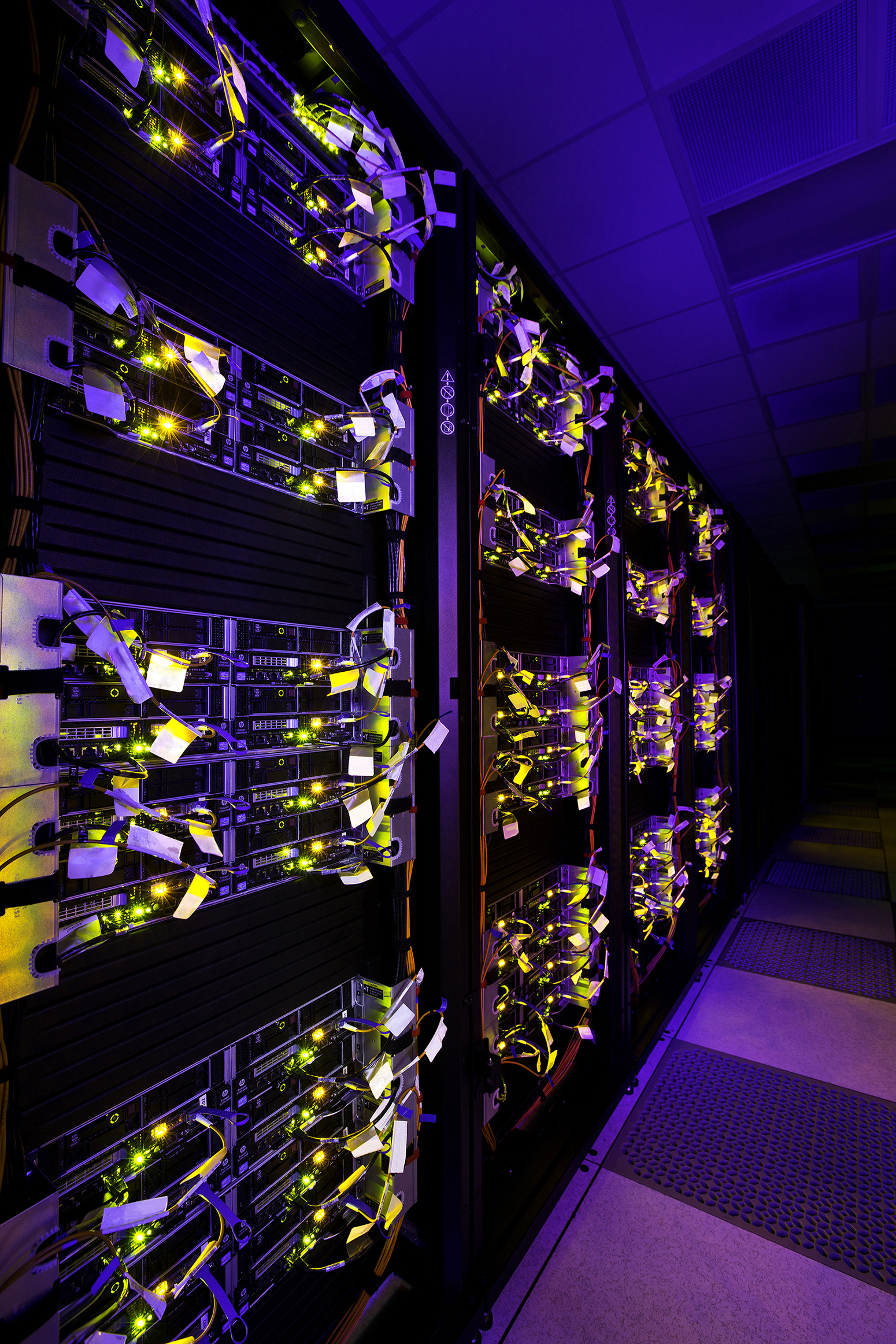 USC's new supercomputer is ranked fifth in the United States among academic supercomputers. (Photo/John Livzey)