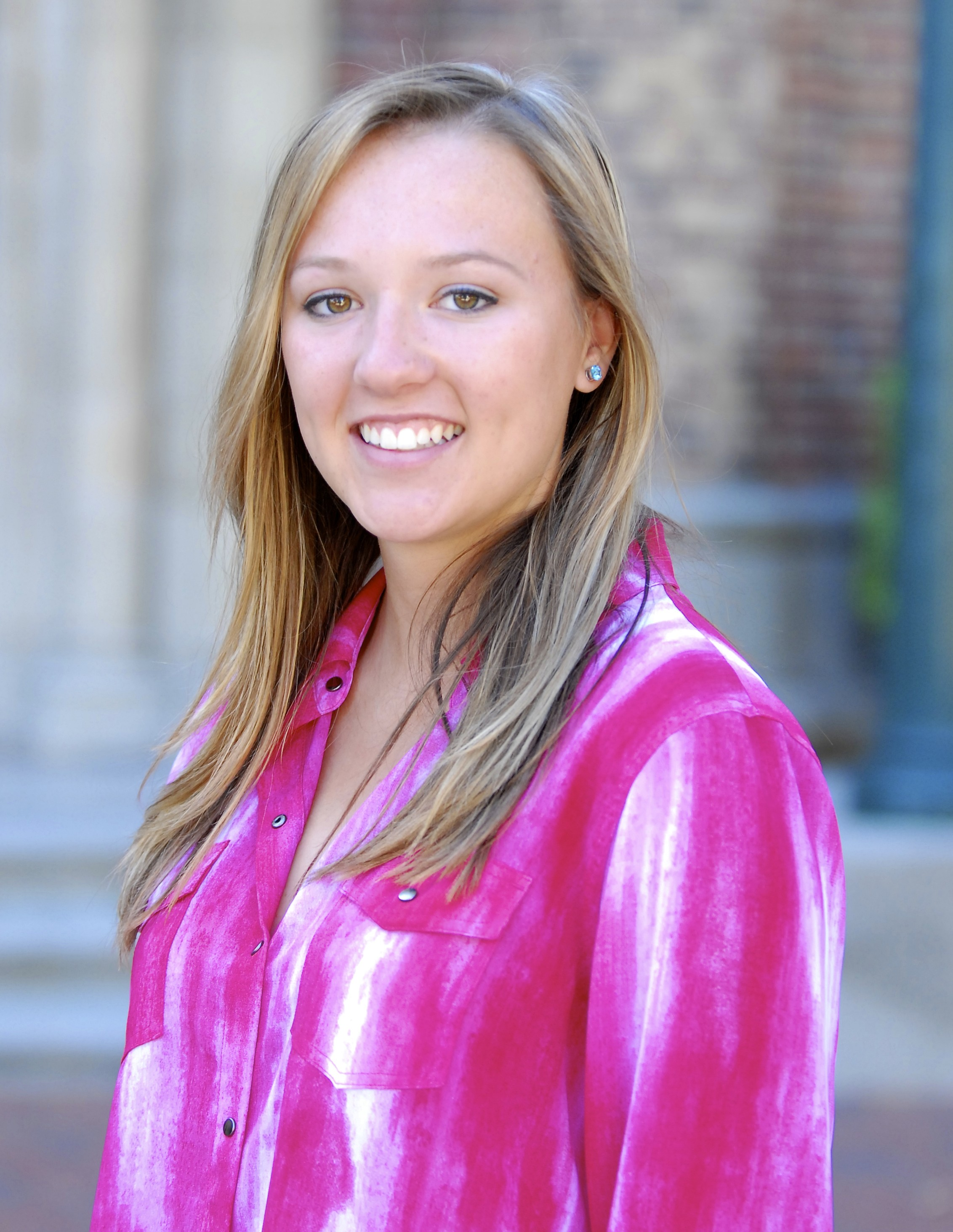 Taylor Harp is a biochemistry major in the Freshman Science Honors Program. (USC Photo/Lillian Insalata)