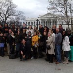 USC School of Social Work students visit Washington, D.C., as part of a national immersion program to learn how the federal government affects child development and social policy. (Photo/Joel Clark)
