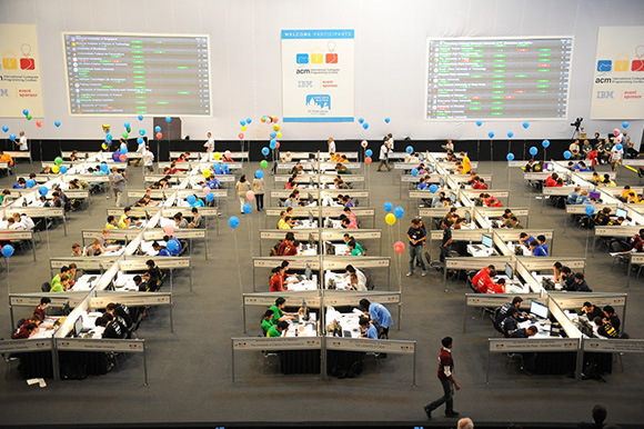 Hundreds of computer science students take part in the International Collegiate Programming Contest in Russia. (Photo/Victor Zavyalov)