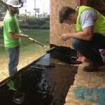 fluxHome team members are getting practical construction experience.