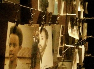 Photos of genocide victims at the Kigali Genocide Memorial in Rwanda (Photo/Ashley Lukashevsky)